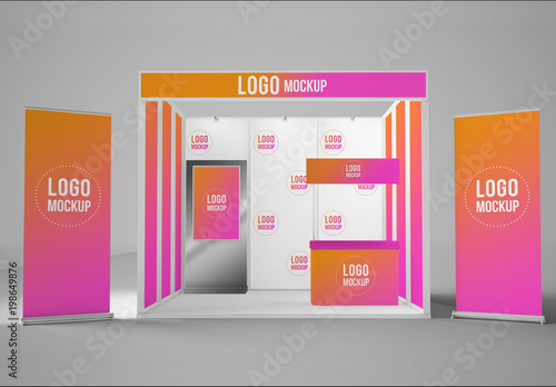 Exhibition Booth Mockup Free Download : Exhibition booth mockup buy this stock template and explore