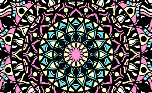 Photo  Abstract background of a mandala