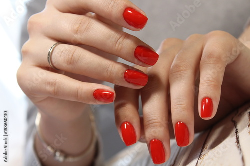 Fototapeta sexy red manicure