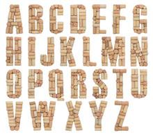 Alphabet Letter Made Of Wine C...