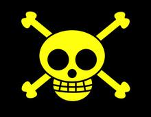 海賊旗(ドクロ黄)