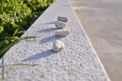 Poster Zen pierres a sable pedrinha