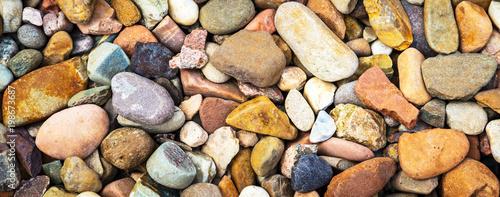 Fotografie, Obraz  Pedras coloridas de rio