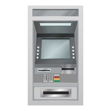 Atm Icon, Realistic Style