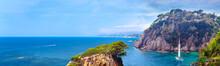 Panorama Of The Mediterranean Near The Coast Of Spain.