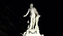 Mozart Denkmal Burggarten Wien Bei Nacht