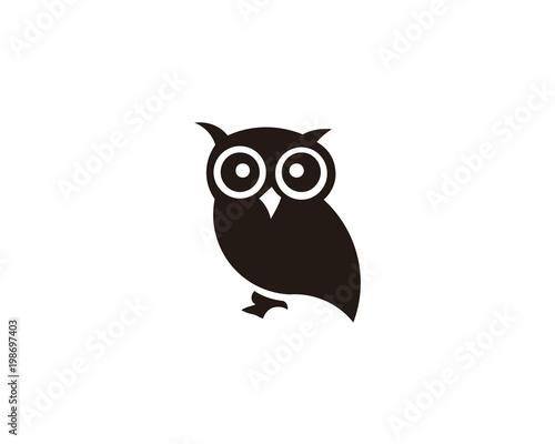 Tuinposter Uilen cartoon owl bird animal