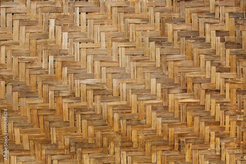 Bamboo weave background, bamboo wood texture Canvas Print