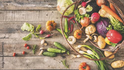 Foto op Plexiglas Groenten Fresh vegetables healthy food concept
