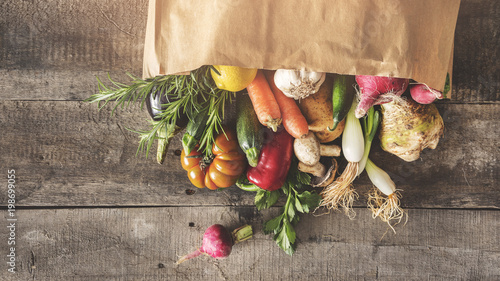 Fotobehang Groenten Fresh vegetables healthy food concept