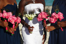 African American Bride On Whit...