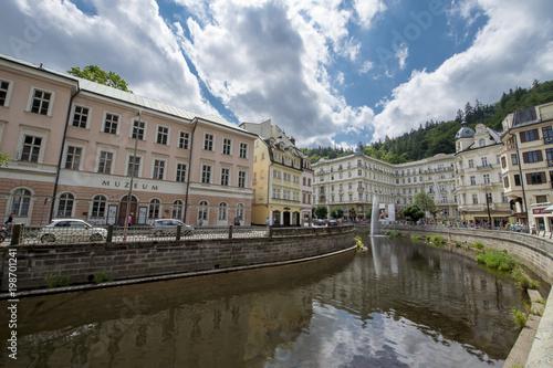 Fotografie, Obraz  River Ohrza in Karlovy Vary