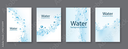 Foto Abstract Water transparent drops backgrounds.vector