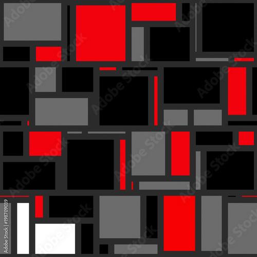 Valokuva  Mondrian Abstract Background Pattern