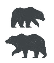 Two Bears Silhouettes