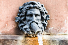 Photo Of Male Head Bust With Water Pipe In Sarreguemines, France