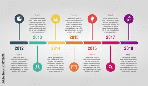 Fotografie, Obraz  timeline with space for text, presentation template