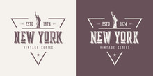 New York Textured Vintage Vector T-shirt And Apparel Design, Typ