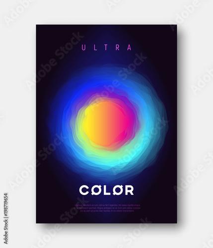 Photo  A4 size vector abstract colorful gradient liquid futuristic desi