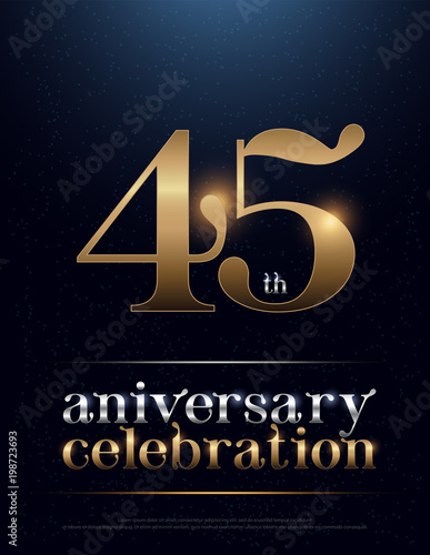 Photographie  45th Anniversary Celebration Colored Metal Chrome alphabet