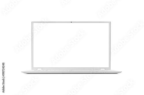 Fototapeta Modern laptop isolated. obraz na płótnie