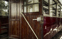 Antique Train Wagon With Open Door
