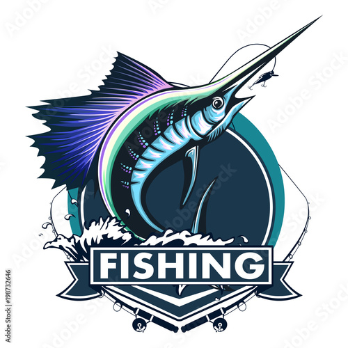 Photo Marlin fish logo