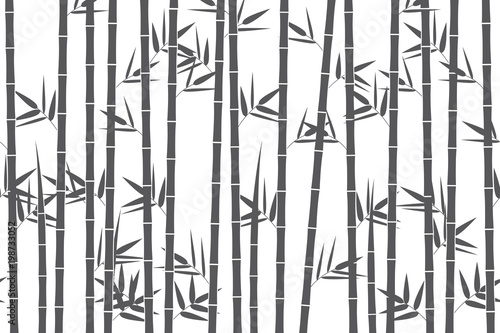 Green bamboo background. Vector illustration Wallpaper Mural