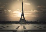 Fototapeta Fototapety z wieżą Eiffla - vista della Tour Eiffel dal trocadero