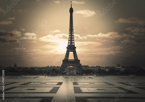 vista della Tour Eiffel dal trocadero