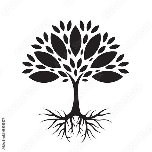 Valokuva  Ekologiczne drzewo ilustracja wektorowa