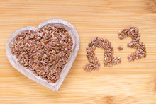 Linseed Grains On The Table- L...