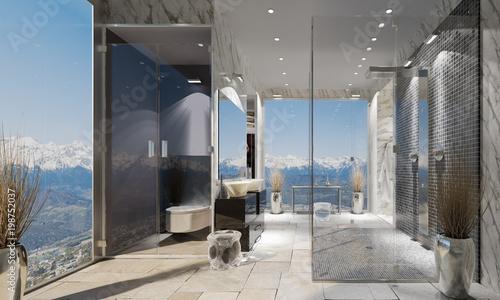 Salle de bain contemporaine - Buy this stock illustration ...