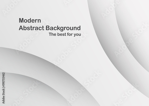 abstract grey and white curve background with shadow template for