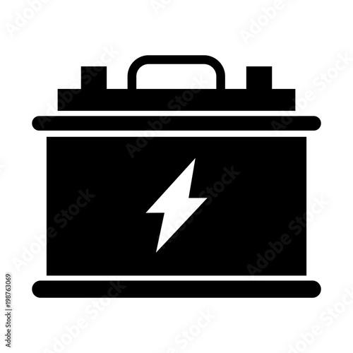 Photo Simple, black, flat accumulator icon