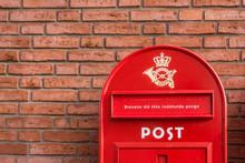 Danish Mailbox On A Brick Wall