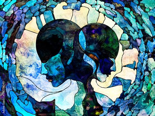 Wall Murals Watercolor Skull Magic of Shape Division