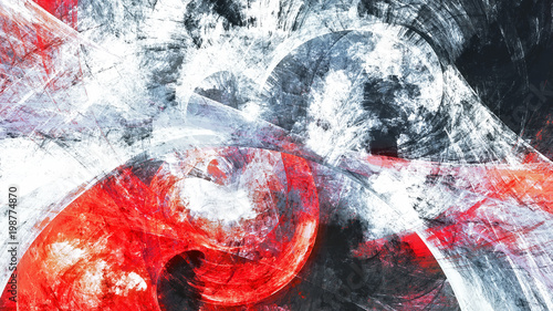 Fototapety One Color   abstract-red-and-white-grunge-motion-composition-modern-bright-futuristic-dynamic-background-fractal-art-for-creative-graphic-design
