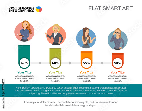 Percentage Infographic Design Editable Template For Timeline