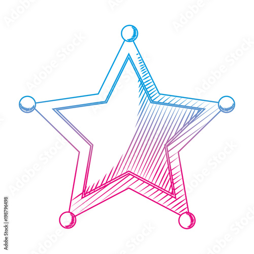 degraded line western sheriffs star object symbol - Buy this