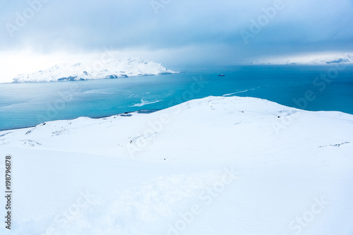 Deurstickers Wit Beautiful landscape and scenery in Antarctica