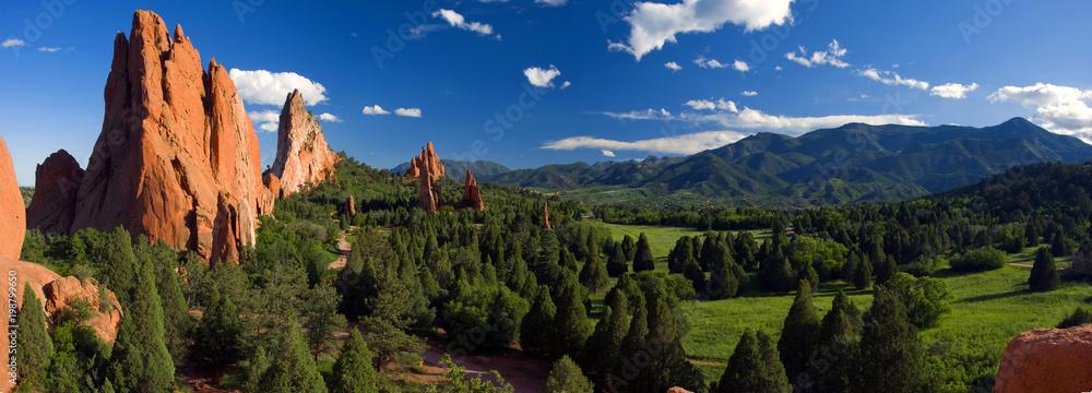Fototapety, obrazy: Central Garden of the Gods Panorama