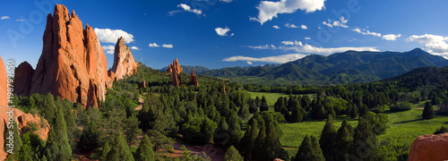 Poster de jardin Bleu nuit Central Garden of the Gods Panorama
