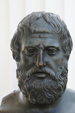 Bronze Statue Head Of Sophocles Ancient Greece Poet And Tragedian
