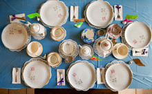 Overhead View Of A Table Set F...