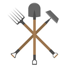 Garden Tools Mini-set. Shovel,...