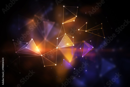 Fotografía  Blurry polygonal backdrop