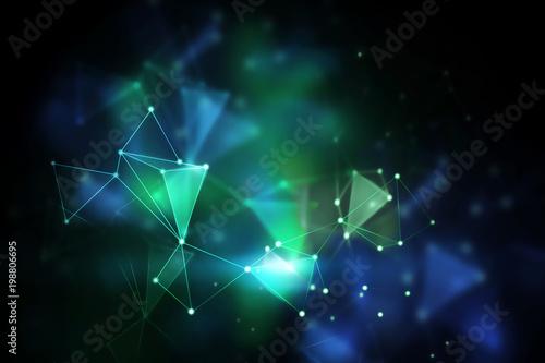 Fotografía  Blurry polygonal wallpaper