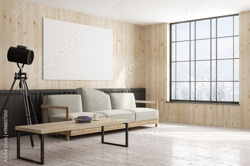 Side of modern interior with poster u kaufen sie diese