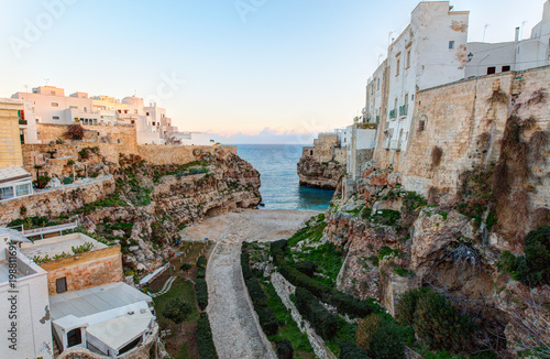 Fotomural Morning view of Polignano A Mare town